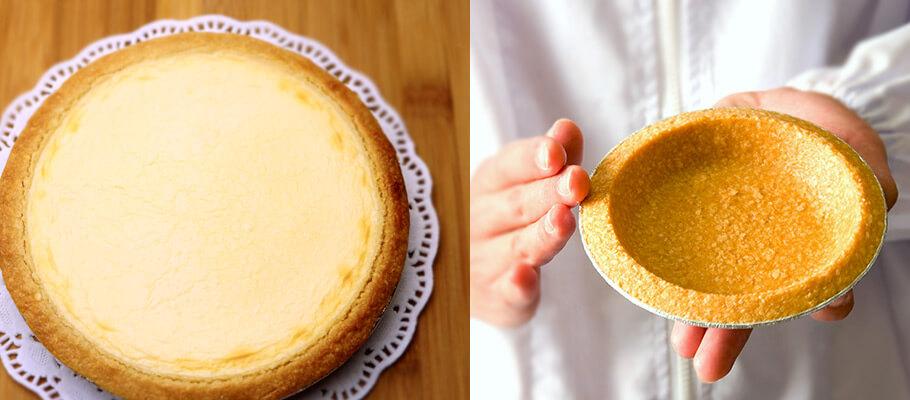 誕生日にチーズケーキ